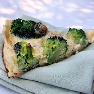 quiche au brocoli et à la fourme d'ambert