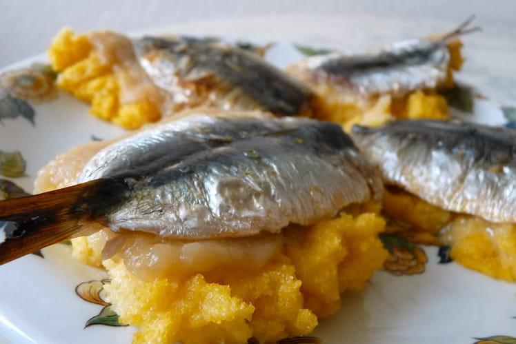 Recette de bruschetta de polenta sardines citronn es - Comment cuisiner des filets de sardines ...