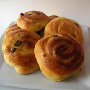 pains briochés aux raisins