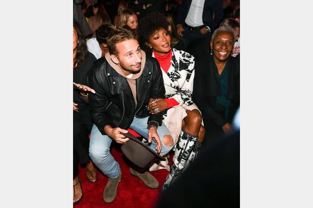 Matthias Schoenaerts, Naomi Campbell et Bethann Hardison au défilé Calvin Klein