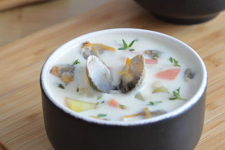 Soupe crémeuse aux coques