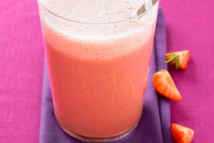 Ice-cream shake à la Soupe de fraises