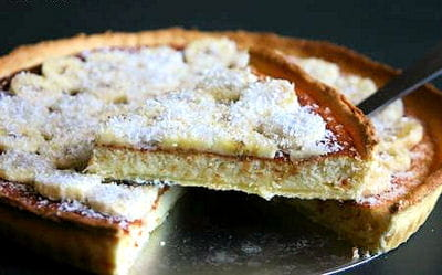 tarte à la banane et à la noix de coco