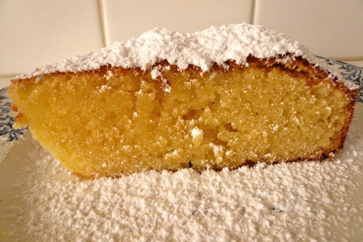 Torta Caprese au chocolat blanc