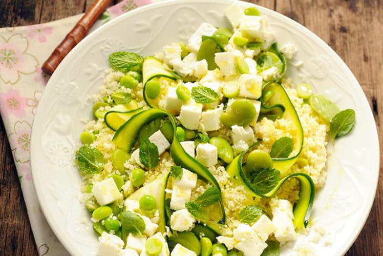 Salade de semoule au Salakis nature et aux légumes