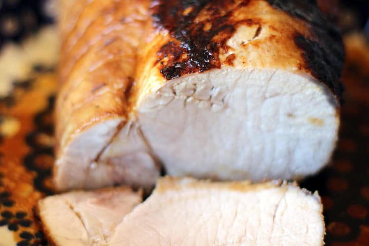 Rôti de porc façon charcutière
