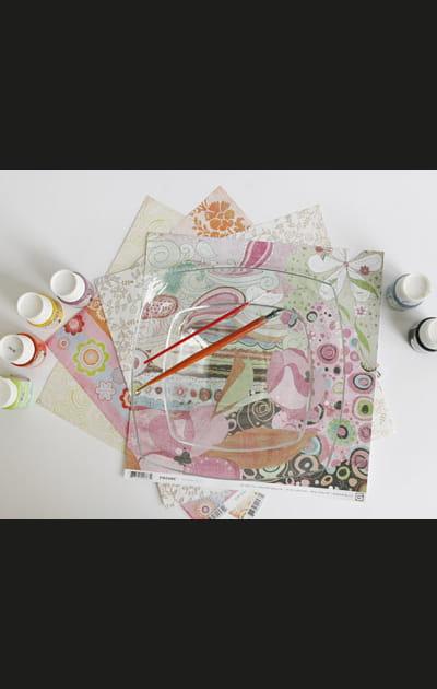 Peinture sur verre: décorer une assiette