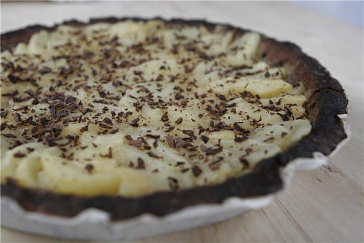 Tarte aux poires chocolat-noisette