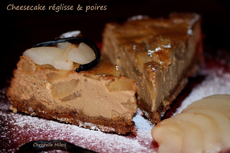 Cheesecake réglisse & poires