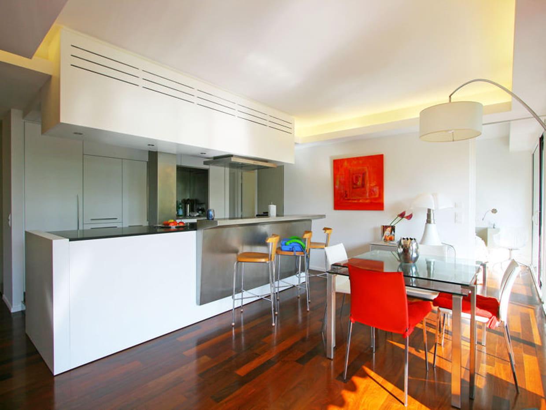 Une cuisine ouverte et design for De cuisines conviviales