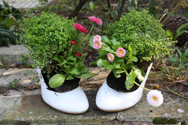 Escarpins fleuris