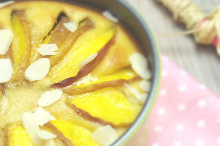 Fondant amande et nectarine sans gluten, sans lait