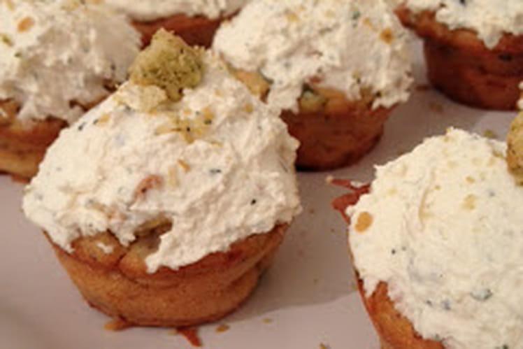 Cupcakes salés comme une Ceasar Salad