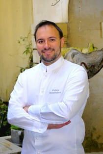 julien montbabut, chef du restaurant de l'hôtel