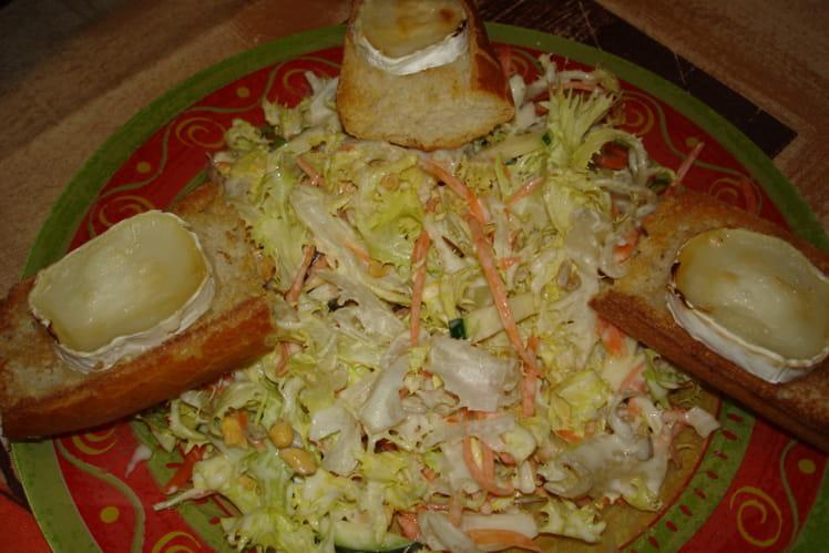 Salade de chèvre chaud végétarienne