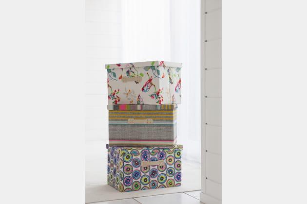 Set de 3 boîtes décorées par Becquet