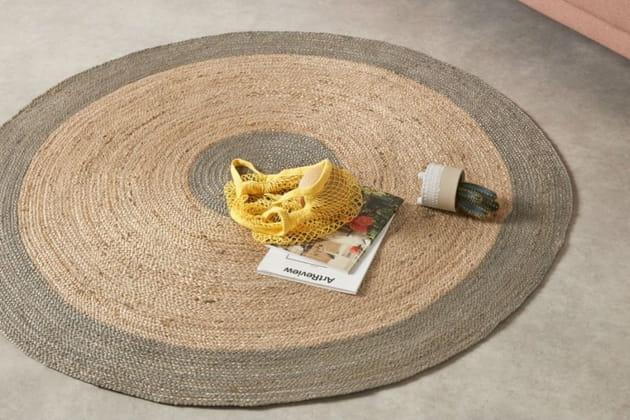 Le tapis rond en chanvre