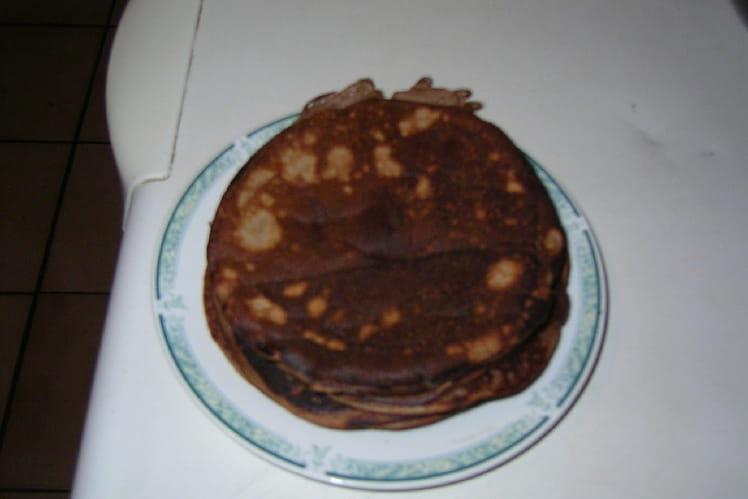 Pancakes à la pomme et au chocolat