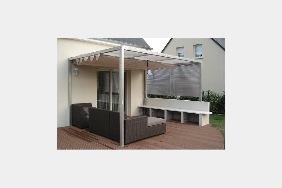 une terrasse en bois composite de somptueuses terrasses. Black Bedroom Furniture Sets. Home Design Ideas