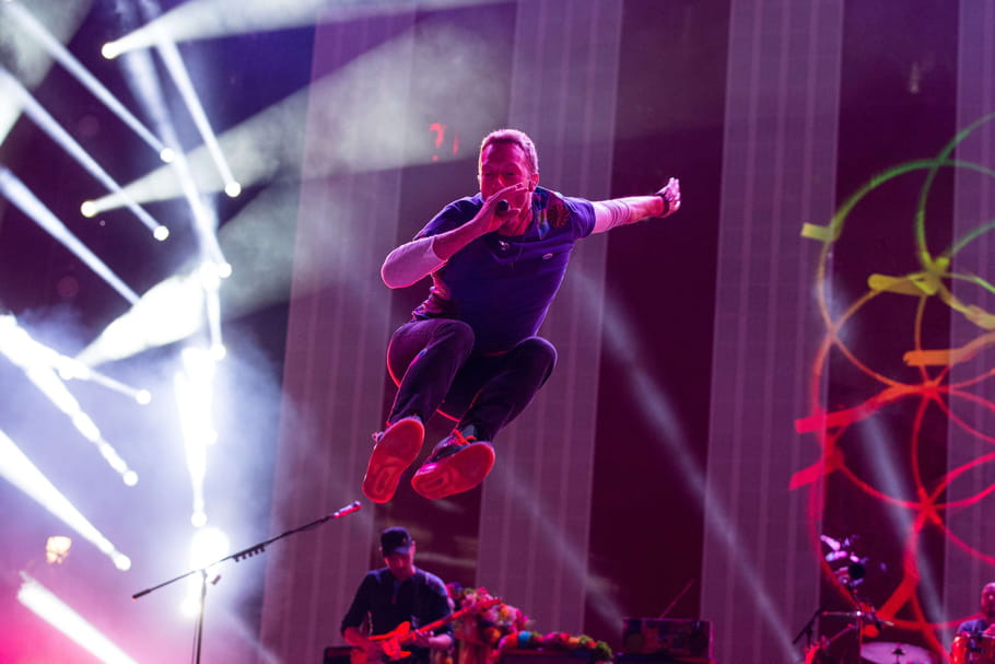 Coldplay en concert en France en 2017