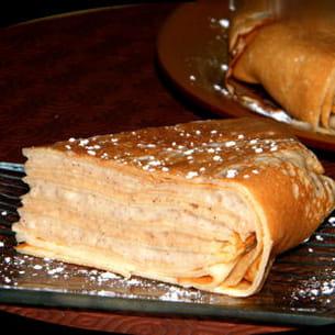 gâteau de crêpes vanille-caramel