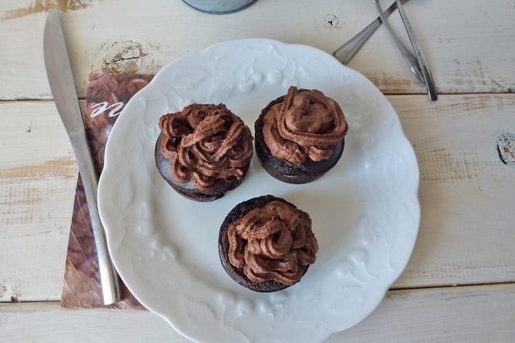 Cupcake chocolat et ganache végétalienne