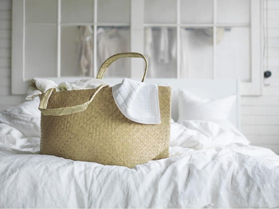 Sac de plage en jonc de mer Nipprig IKEA : Rotin et fibres naturelles ...