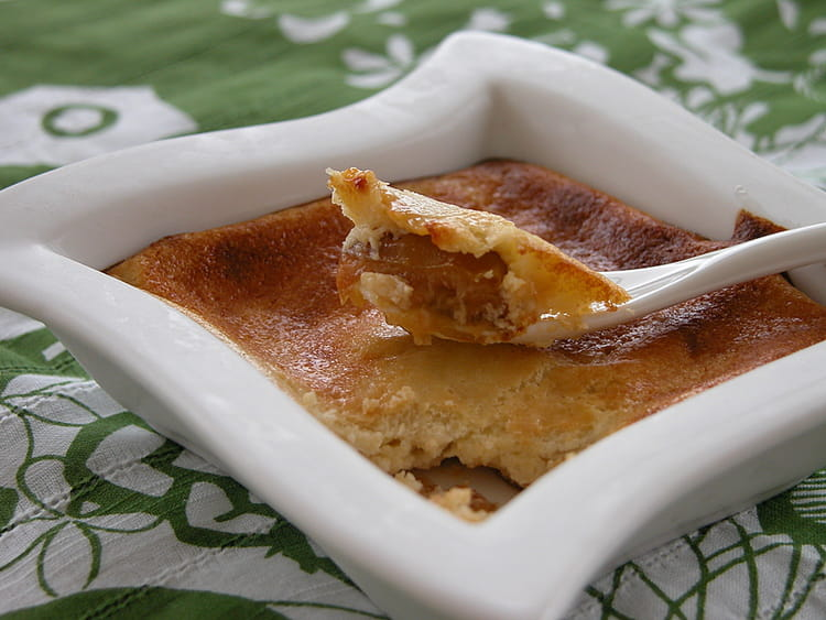 Recette de fondant de fromage blanc sur compote de mirabelles la recette facile - Recette avec des mirabelles ...