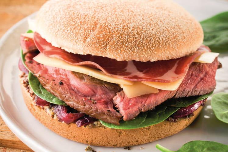 Burger géant brioché du terroir