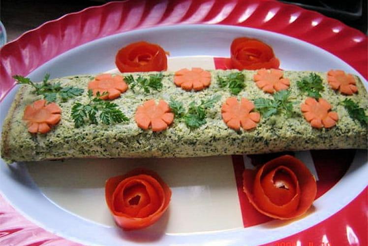 Roulé de saumon au brocoli et au Boursin