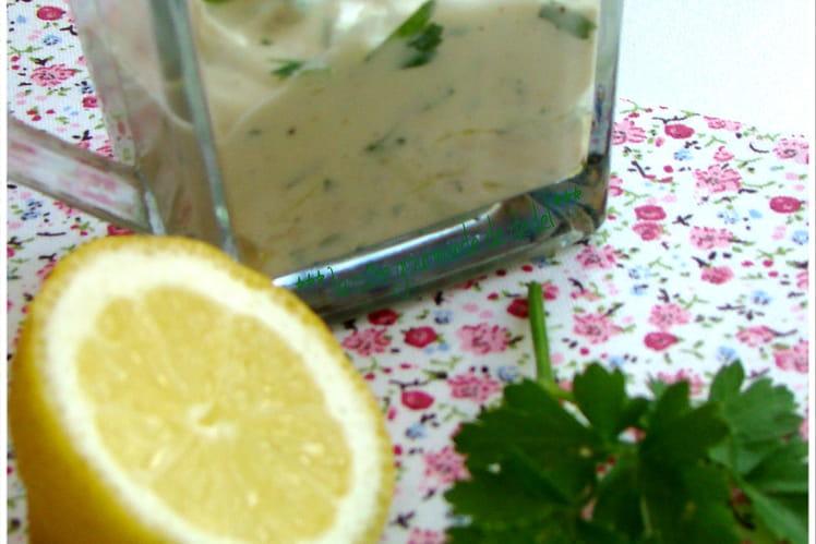 Vinaigrette au yaourt 0% et persil
