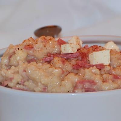 risotto au jambon et kiri