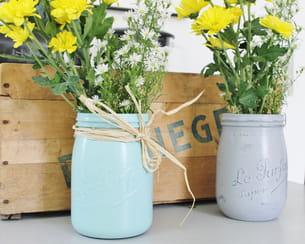 bocaux le parfait transformés en vase