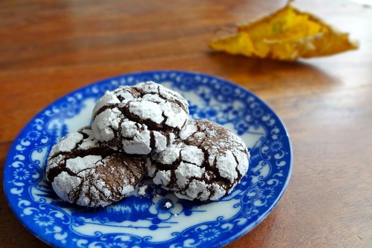 Biscuits croustillants au chocolat noir
