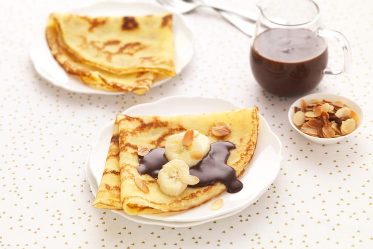 Crêpes sans gluten et sauce chocolat