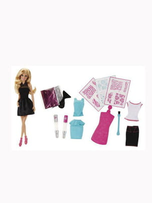 barbie studio paillettes de mattel