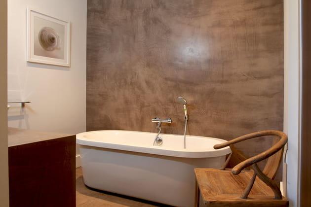 M tissage salle de bains - Beton cire mur salle de bain ...