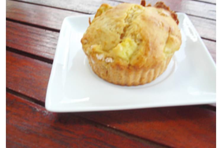 Muffins aux pommes sans matière grasse