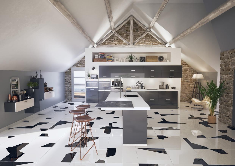 cuisine glossy stella de cuisine plus. Black Bedroom Furniture Sets. Home Design Ideas