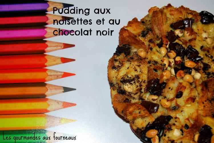 Pudding aux noisettes et au chocolat noir