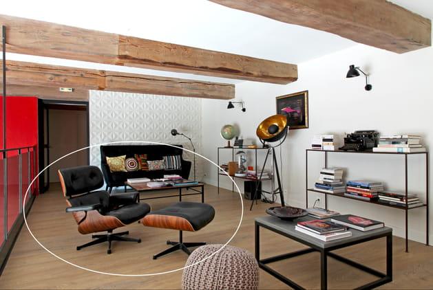 La Eames Lounge Chair et son ottoman pour Herman Miller