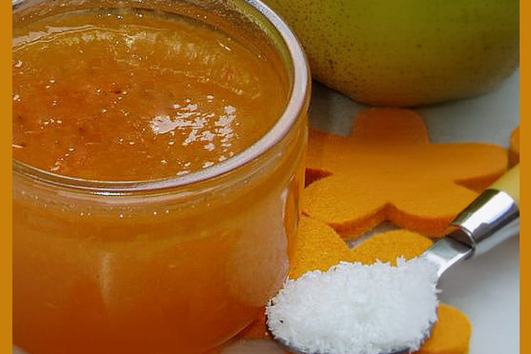 Confiture de potimarron, poires et noix de coco