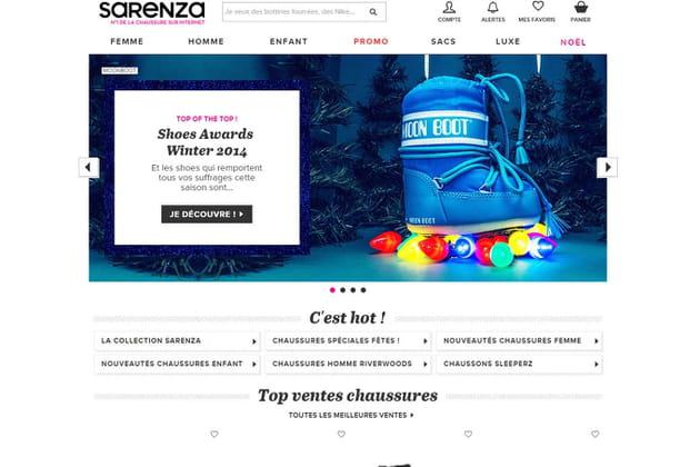 Le e-shop de Sarenza