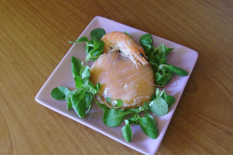 Dôme de mousse d'asperges au saumon fumé