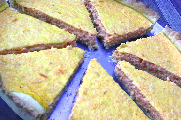 Tarte carotte fromage curry