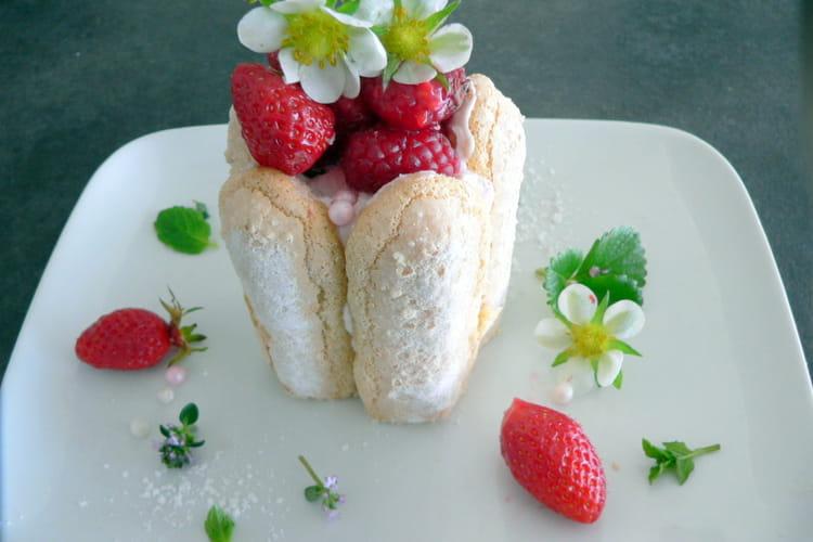 Petite charlotte mascarpone et fruits rouges