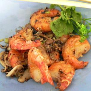 crevettes sautées au poivre et sel