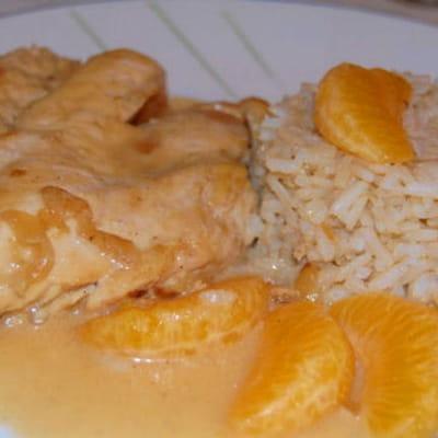 escalope de poulet au miel et aux clémentines