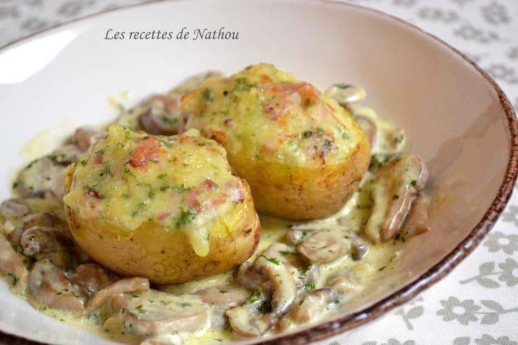 Recette de pommes de terre farcies au lard et reblochon - Cuisiner du sanglier au four ...