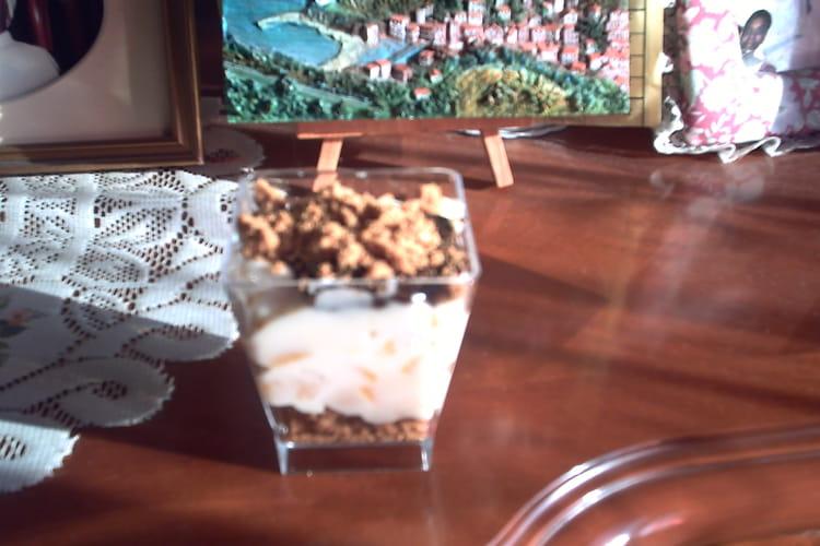Verrines poires, mascarpone et chocolat